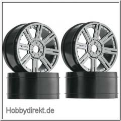 Buggy Felge, schwarz-chrom (4 Hobbico DTXC3815
