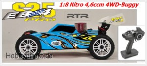 EB4 S2.5 1:8 Nitro 4WD Buggy 4,6ccm RTR 2.4G, BLAU Thunder Tiger