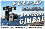 DJI ZENMUSE H3-3D Gimbal PHANTOM 2 Version Thunder Tiger 036H3DP