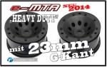 e-MTA HD Felgen für 23mm 6-Kant, Schwarz (2) Thunder Tiger PD753
