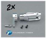 X50 Blatthalter, Alu CNC, Komplett-Set (2) Thunder Tiger PV1442
